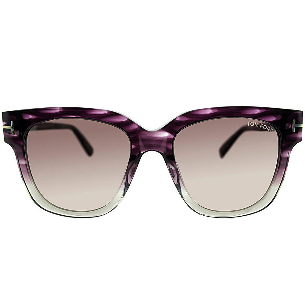 adf3d3d85cc24 Tom Ford - Multicolor Tracy Tf 436f 83t Violet Melange Square Sunglasses -  Lyst. View fullscreen