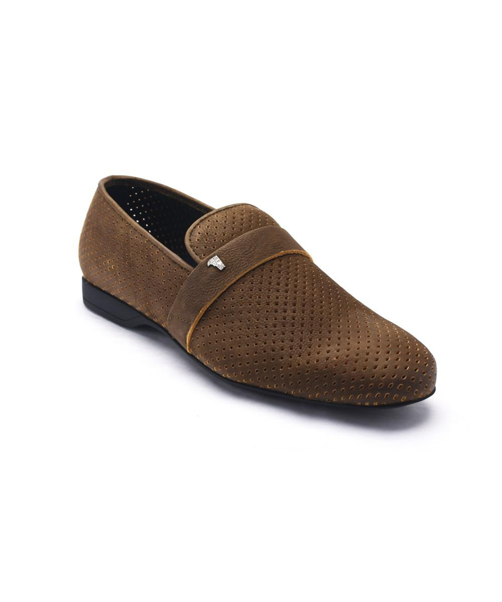 fe2b63a7b86 Versace Collection Men s Laser Cut Suede Medusa Loafers Olive Green ...