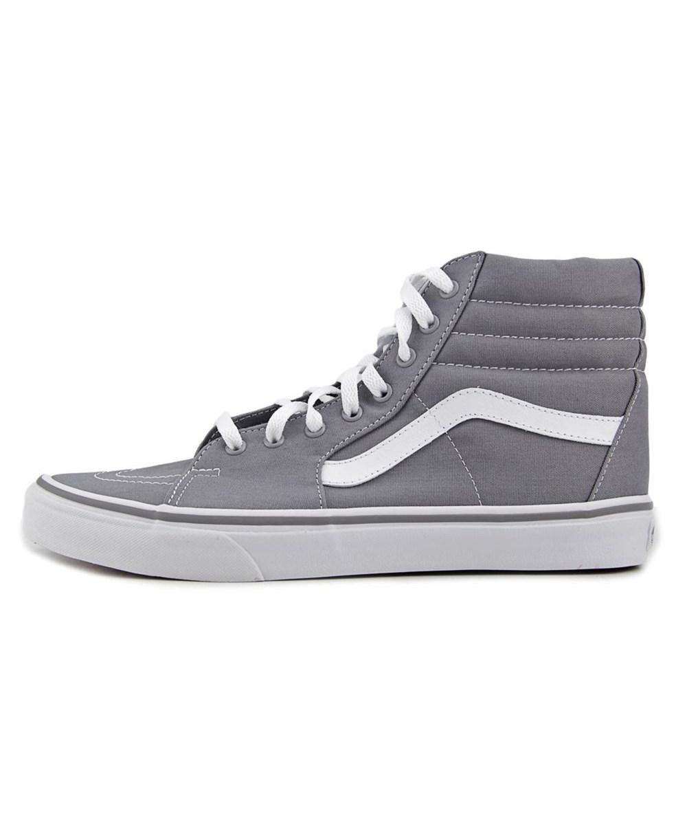 a07632500670cf Lyst - Vans Sk8-hi Round Toe Canvas Skate Shoe in Gray for Men