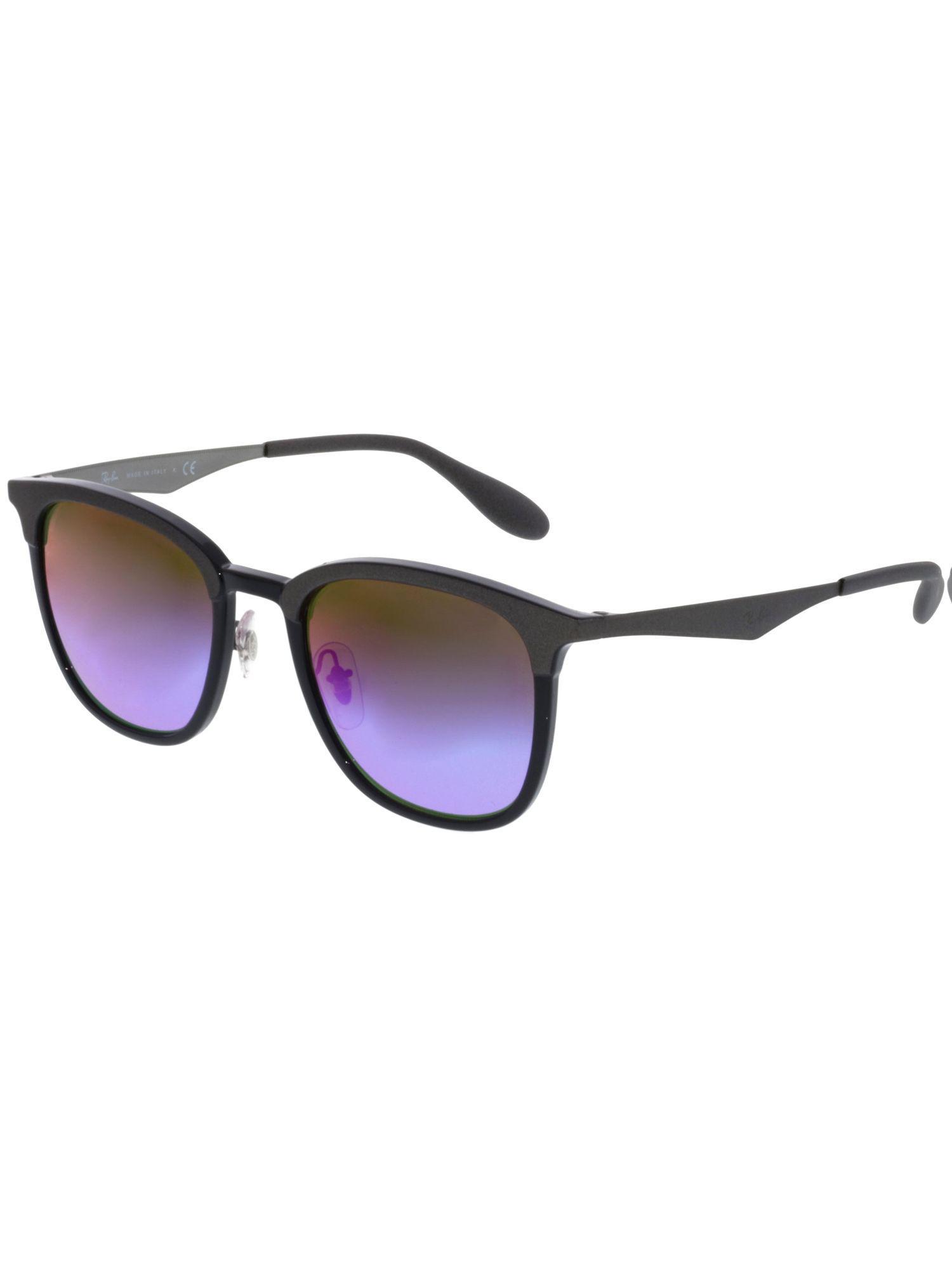fa996d954fe Lyst - Ray-Ban Mirrored Rb4278-6284b1-51 Black Square Sunglasses