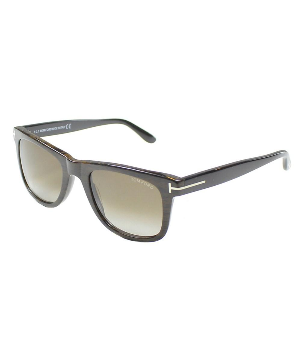 9eec545ff2db Tom Ford - Brown Leo Square Plastic Sunglasses - Lyst. View fullscreen