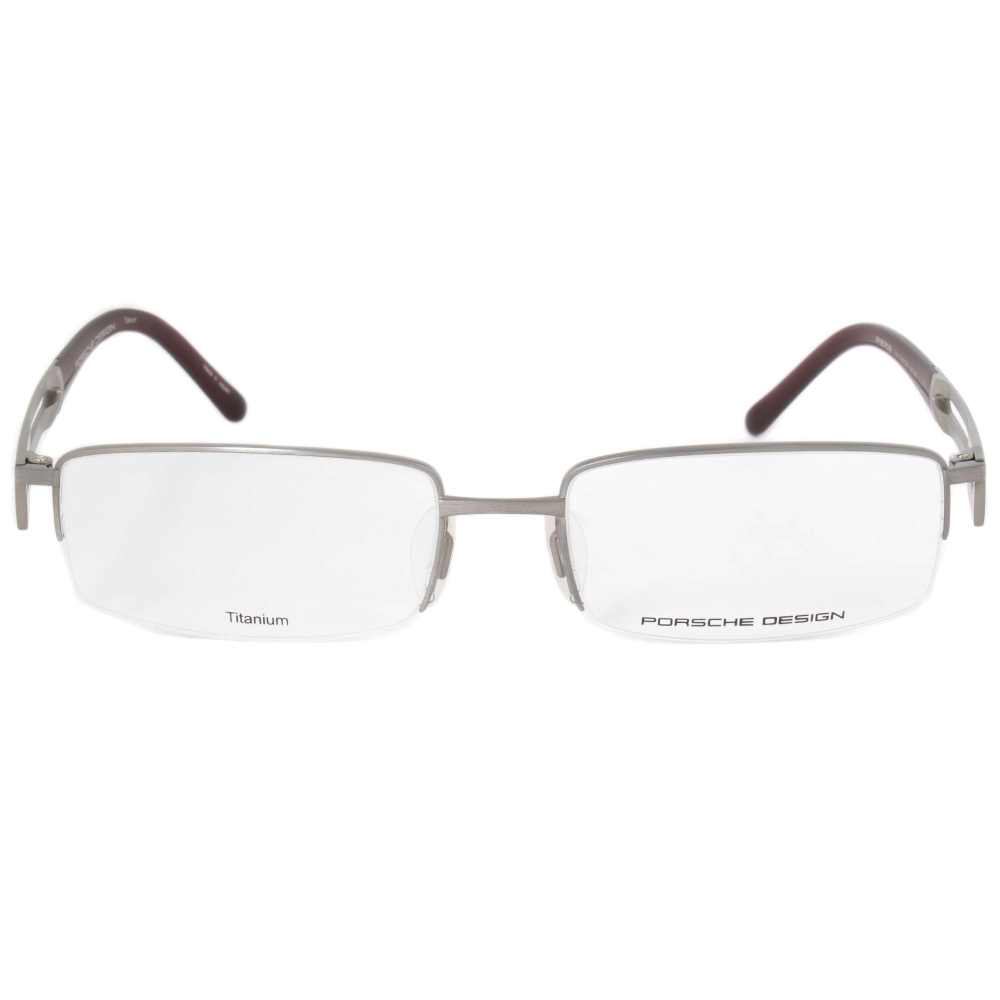 Lyst - Porsche Design P8703 C Rectangular | Matte Silver| Eyeglass ...