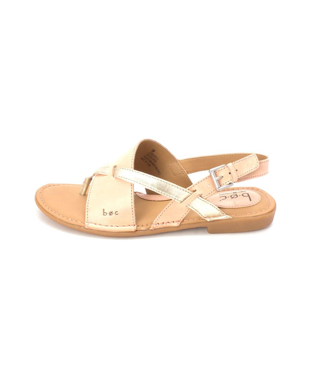 454385217c95 Lyst - B.Ø.C. Womens Lowrey Leather Split Toe Casual Slingback ...