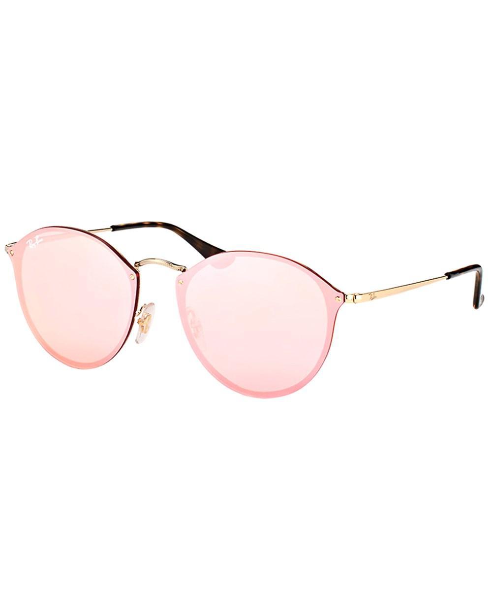 50c37616cb Lyst - Ray-Ban Blaze Round Rb 3574n 001 e4 Gold Sunglasses in Metallic