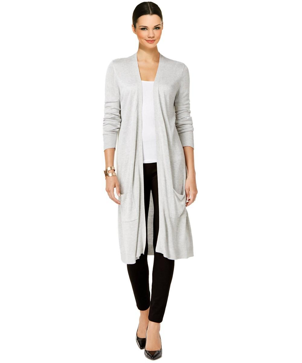Joseph a Duster Cardigan Sweater in White | Lyst