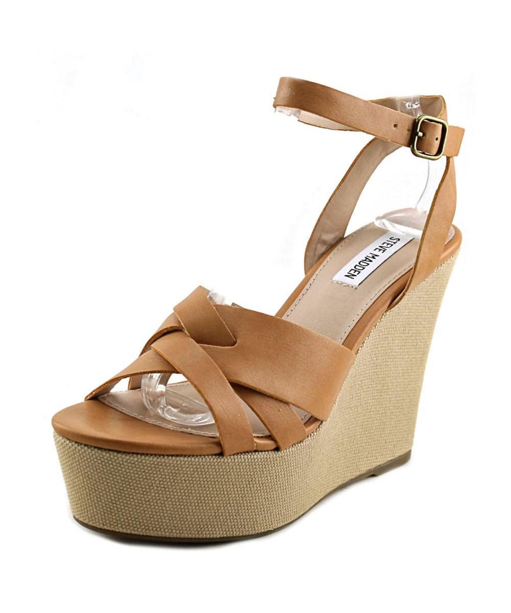 84fdda9247a Lyst - Steve Madden Orlena Women Open Toe Synthetic Wedge Heel in ...