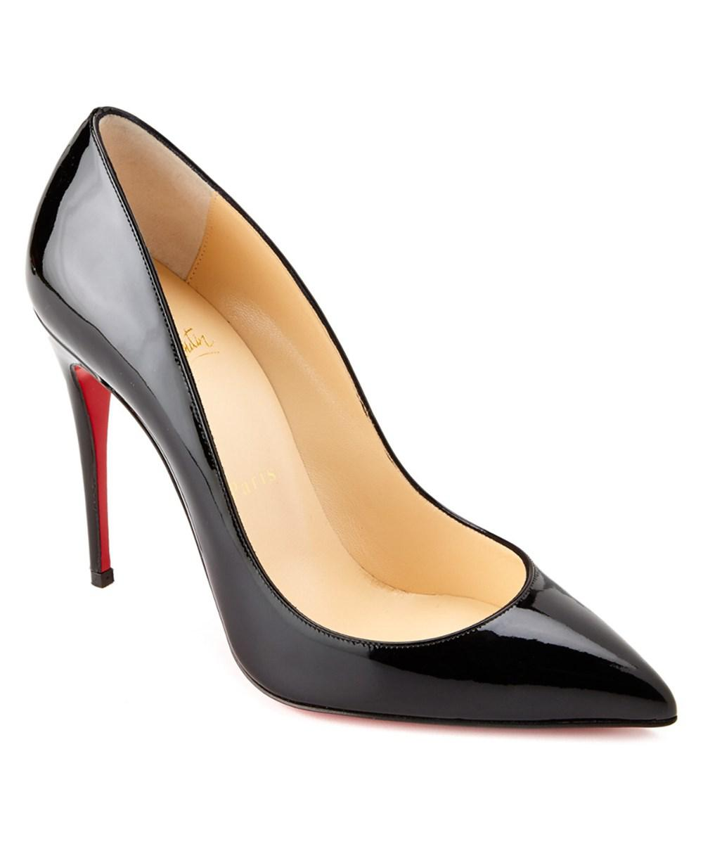 a974fc9caca Lyst - Christian Louboutin Pigalle Follies 100 Patent Pump in Black