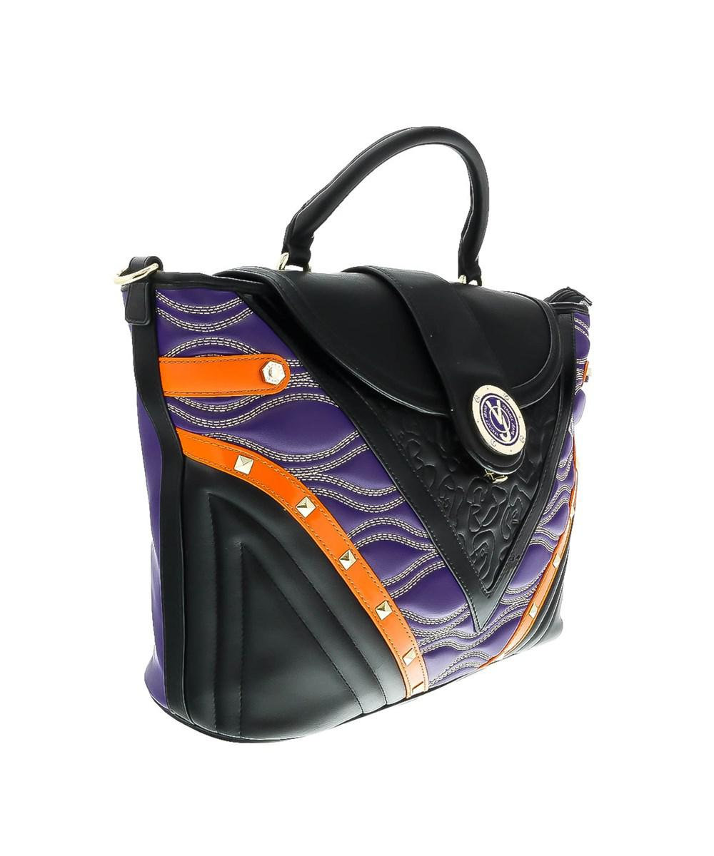 051a93231415 Versace Ee1vobbk1 Emgh Black purple Top Handle in Black - Lyst