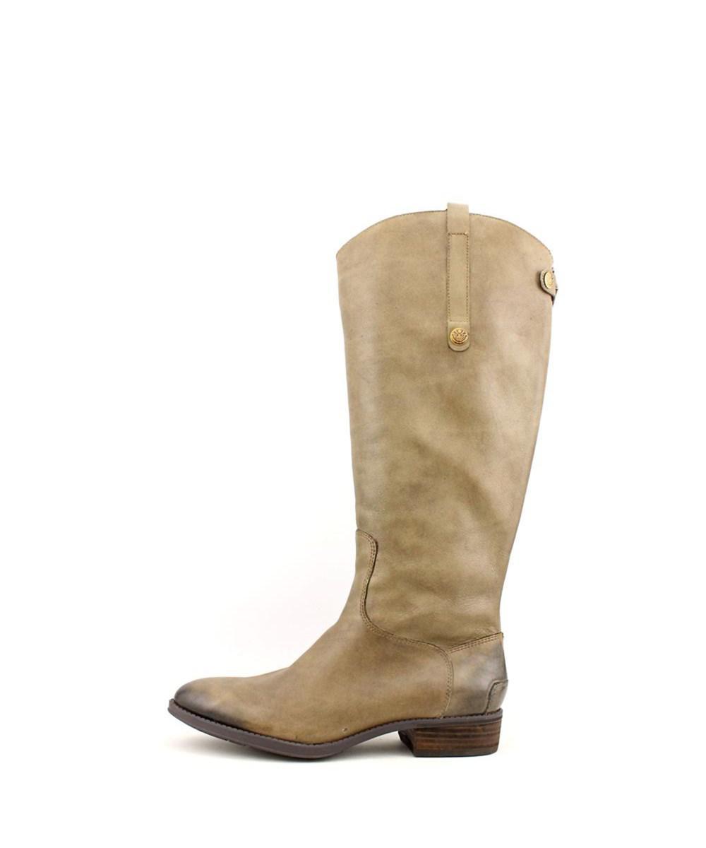 660f6f475c6c1 Lyst - Sam Edelman Penny 2 Women Round Toe Leather Brown Knee High ...