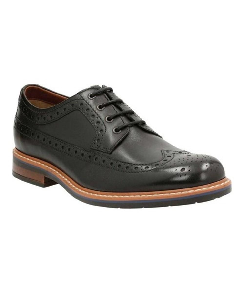 305f26f9b226 Lyst - Clarks Men s Melshire Wing Tip Oxford in Black for Men - Save 38%