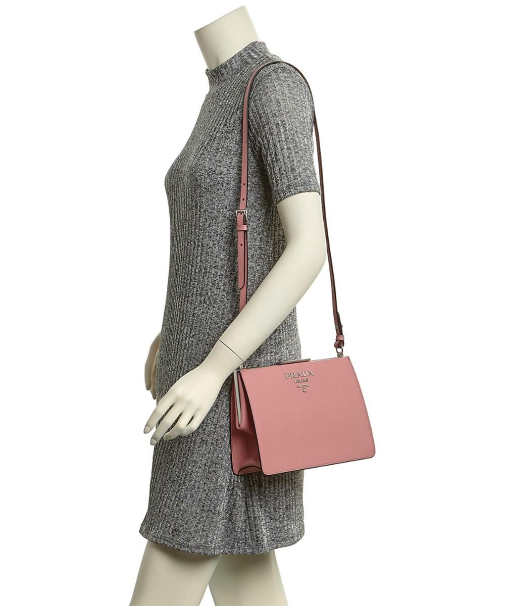 4007a52ee6a3 ... ebay lyst prada light frame saffiano leather shoulder bag in pink 20275  ef832