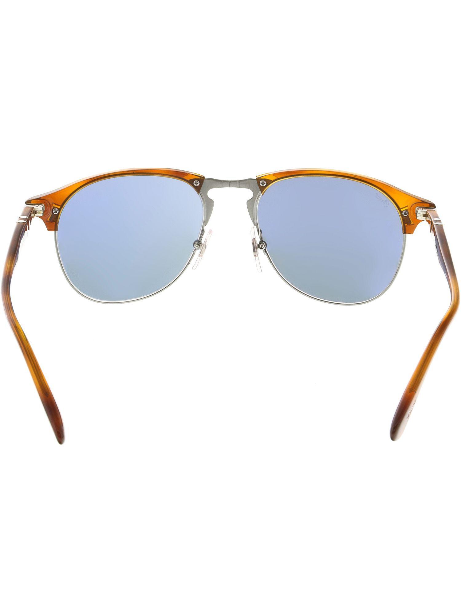 56cb5b29f3 Lyst - Persol Men s Mirrored Po8649s-96 56-53 Brown Oval Sunglasses ...
