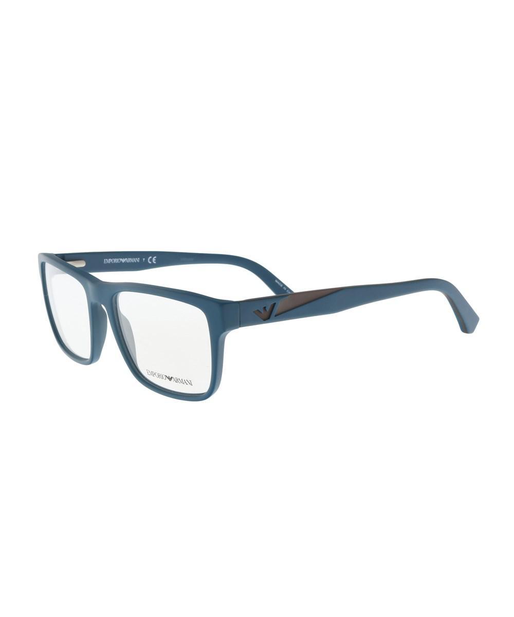 d80572289a18 Lyst - Emporio Armani Ea3080 5508 Teal Square Sunglasses in Blue
