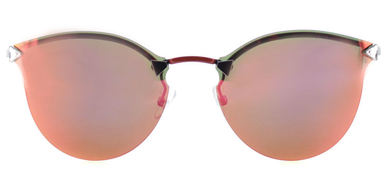 fcac7b42dd91 Lyst - Fendi Ff 0040 Cem Gray Oval Sunglasses