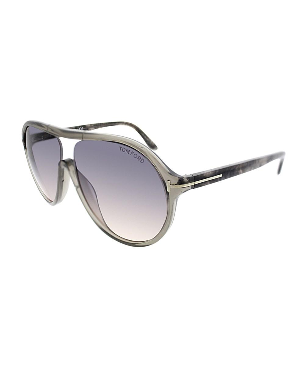 70dba53b6ad4 Lyst - Tom Ford Edison Ft443 20b Transparent Grey Aviator Sunglasses ...