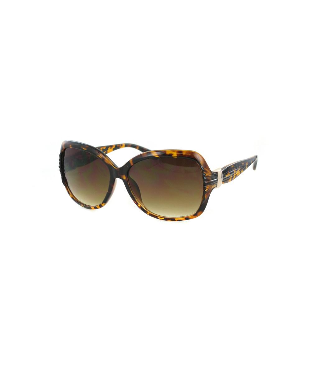 Lyst - Kay Unger Over Sized Tortoise Frames With Gold Accent And ...