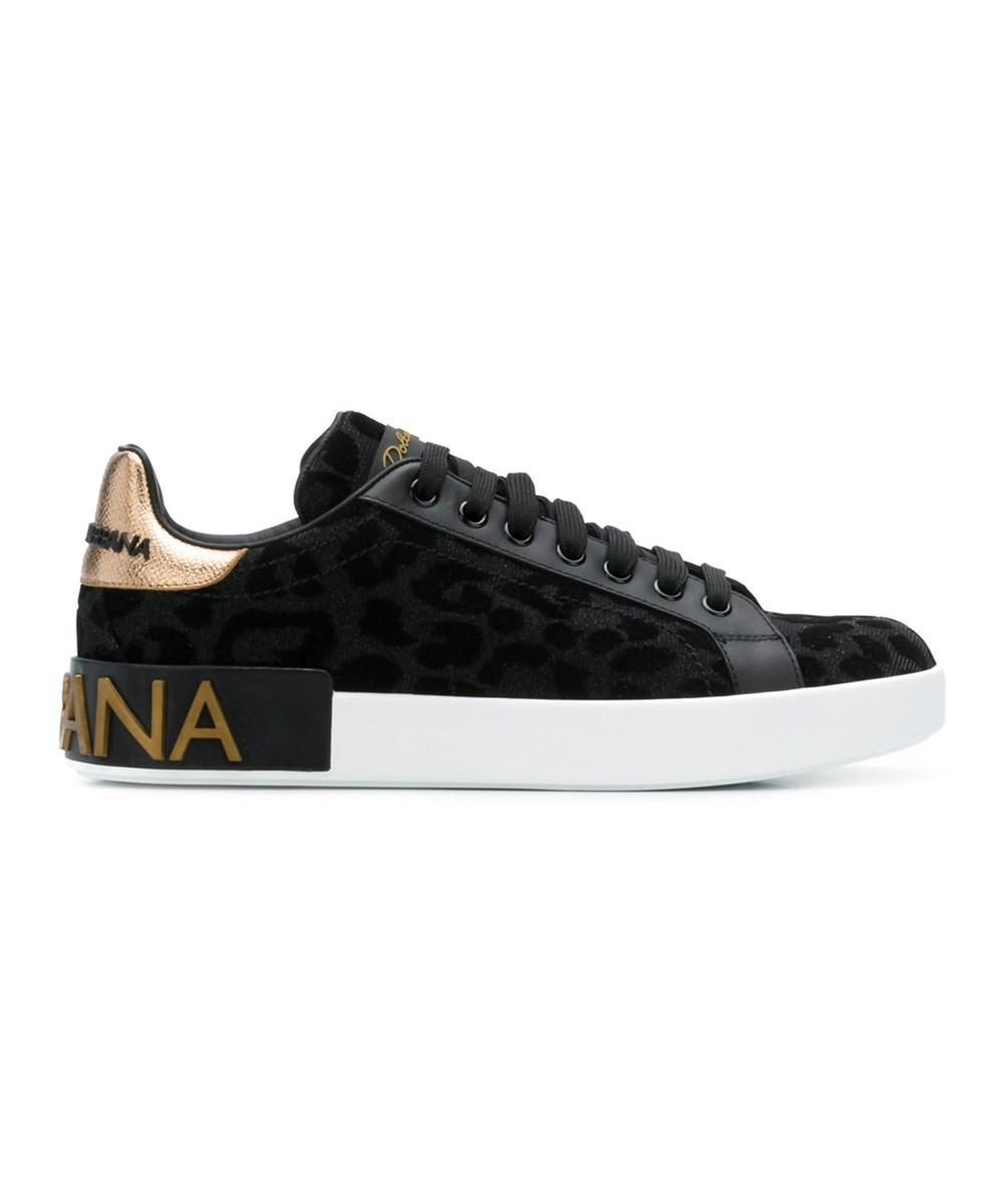 3951e11855 Dolce & Gabbana. Dolce E Gabbana Women's Ck1570av2628b956 Black Leather  Sneakers