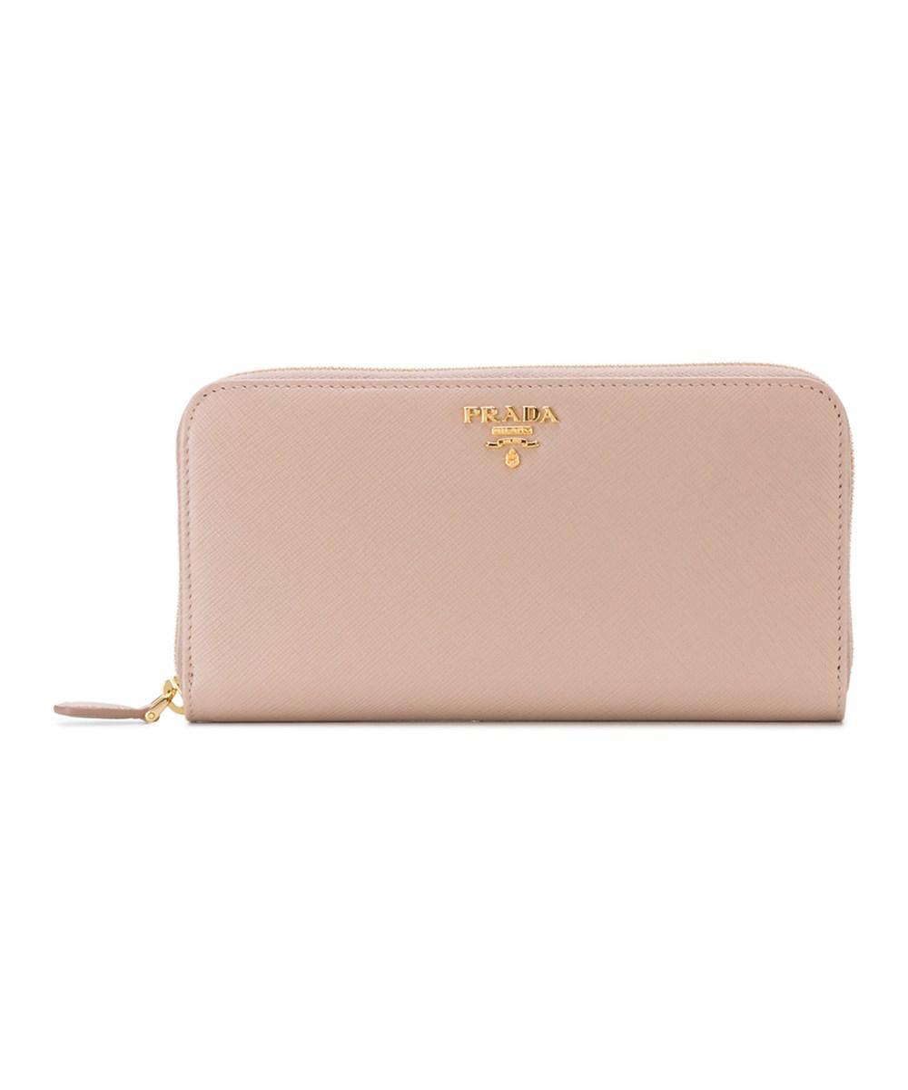 ... australia prada womens pink leather wallet lyst. view fullscreen f2410  856a6 8fd15f759b452
