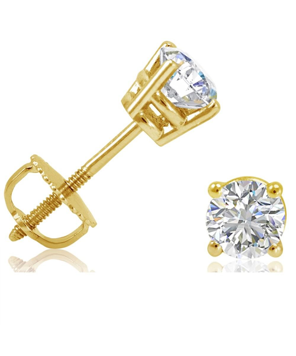 stud mens diamond gold plated white studs cube earrings l