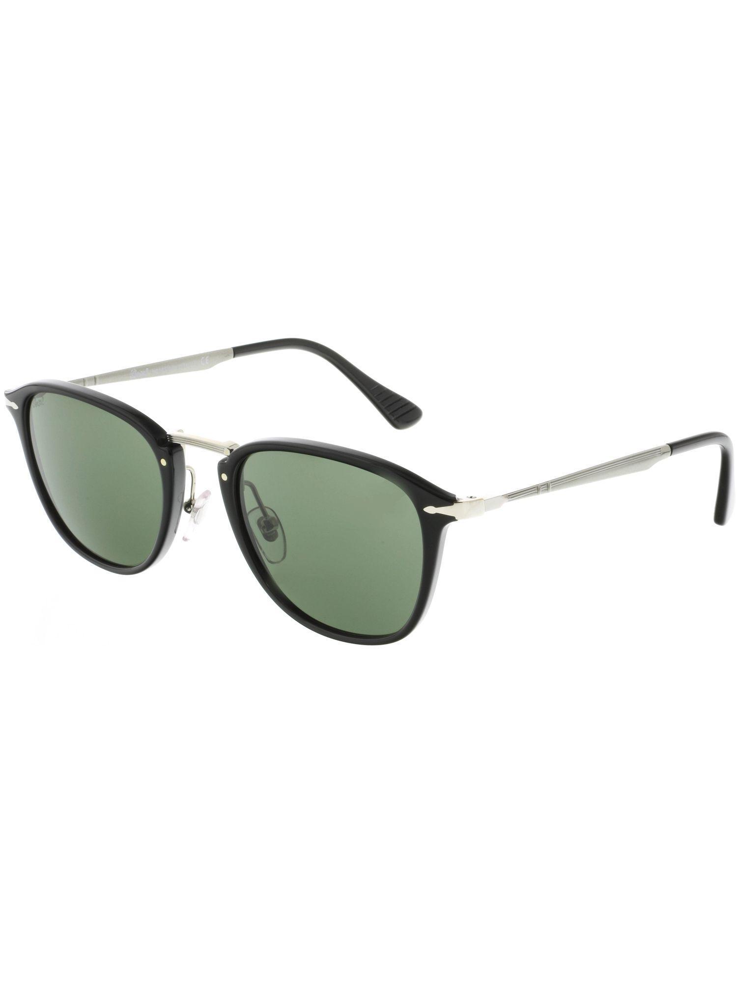 b5332ae4a3 Lyst - Persol Men s Po3165s-95 31-52 Black Rectangle Sunglasses for Men