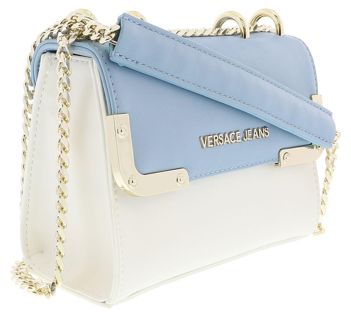 63e29c849553 Lyst - Versace Ee1vrbba4 White  Powder Blue Shoulder Bag in Blue