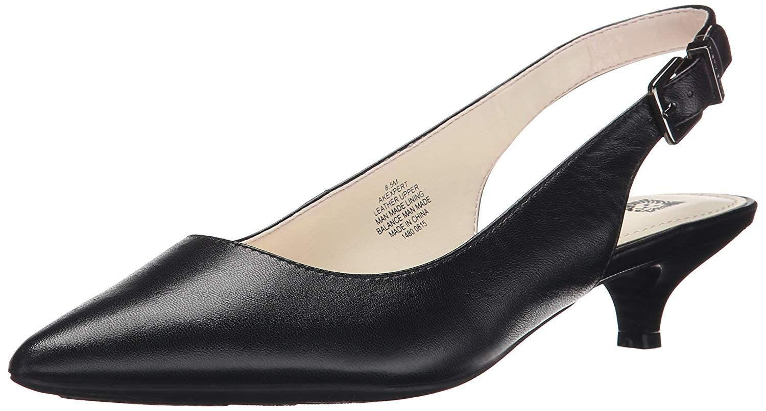 1cd33a60033 Anne Klein. Black Womens Expert Leather Pointed Toe Slingback Classic Pumps