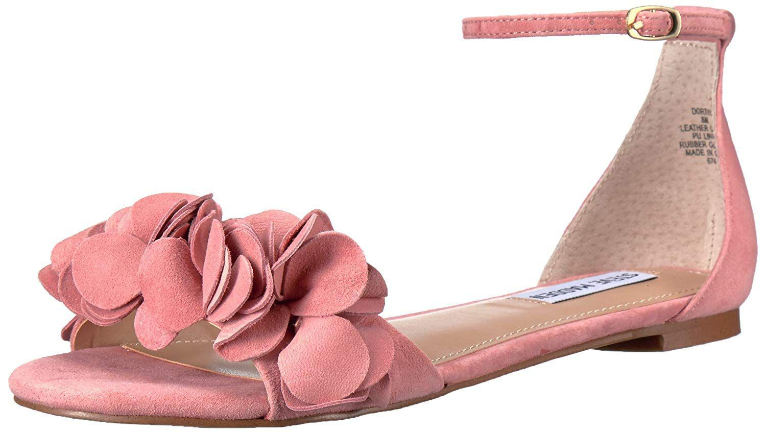 ef4ef161d4d12 Steve Madden. Pink Womens Dorthy Leather Open Toe Casual Ankle Strap Sandals