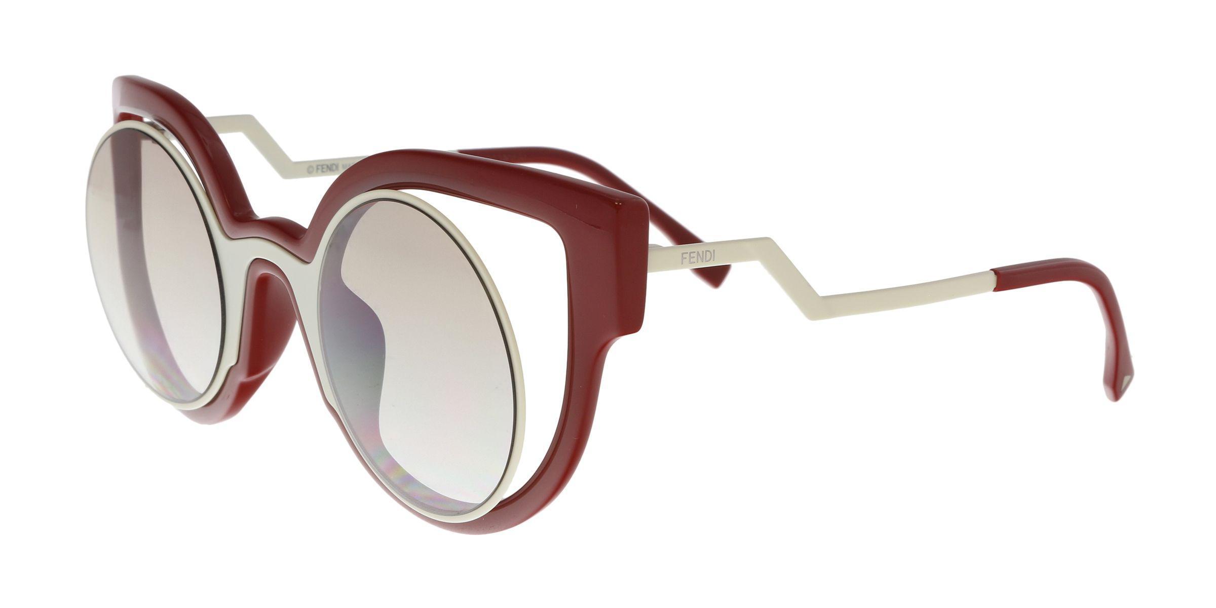 4426aa247168 Fendi - Multicolor Ff 0137 s 0nt4 Cream red Cat Eye Sunglasses - Lyst. View  fullscreen