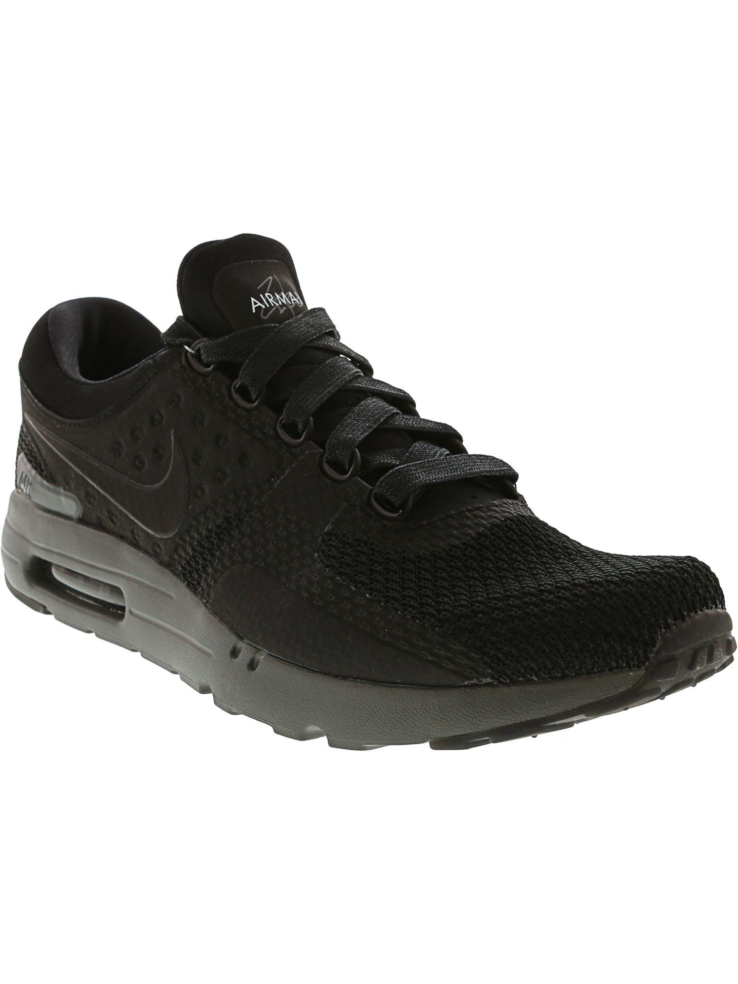 best sneakers ae786 c3a18 Nike Men s Air Max Zero Ankle-high Fabric Running Shoe in Black for Men -  Lyst