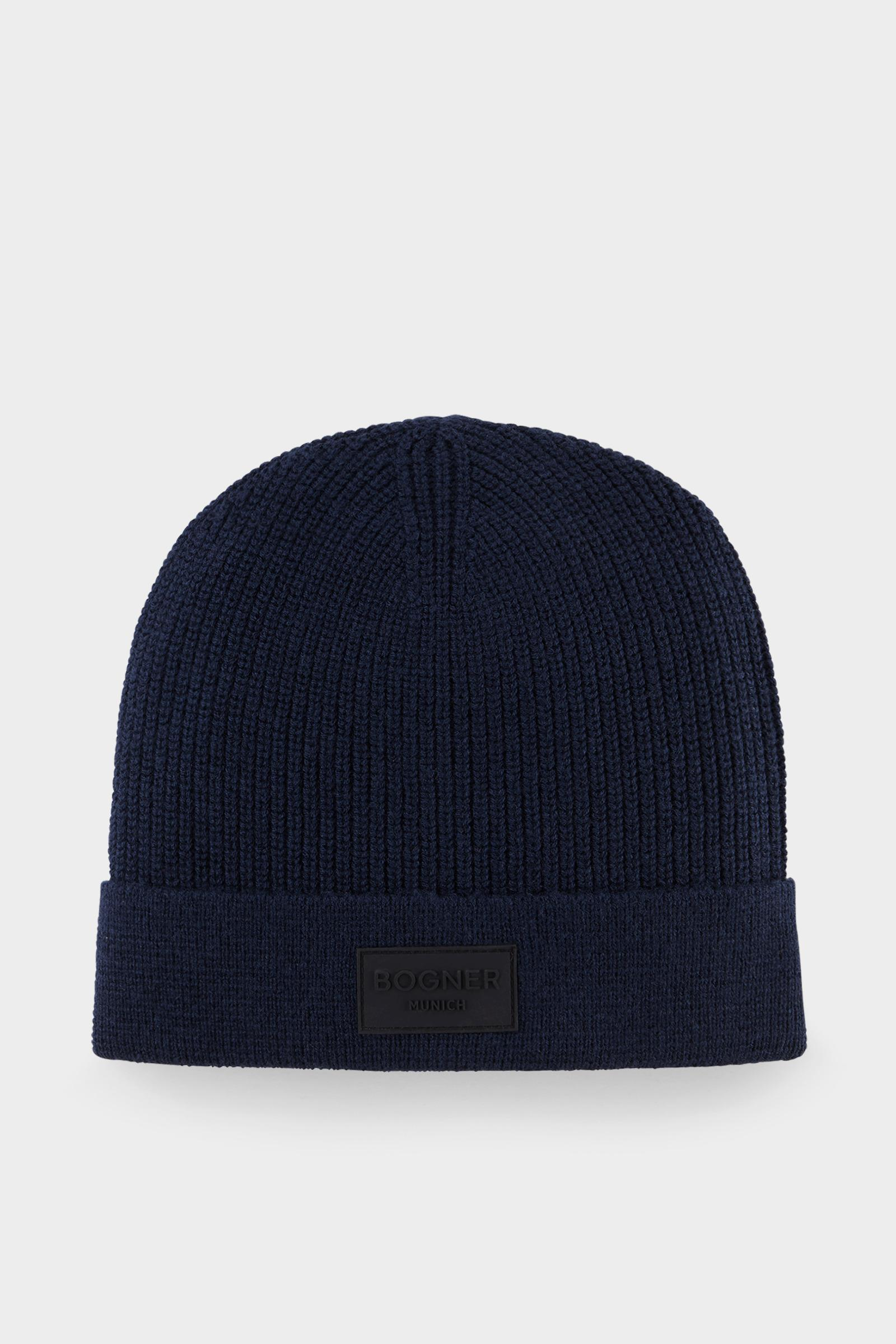 47d53a2cbc3 Bogner Philip Knitted Hat In Navy Blue in Blue for Men - Lyst