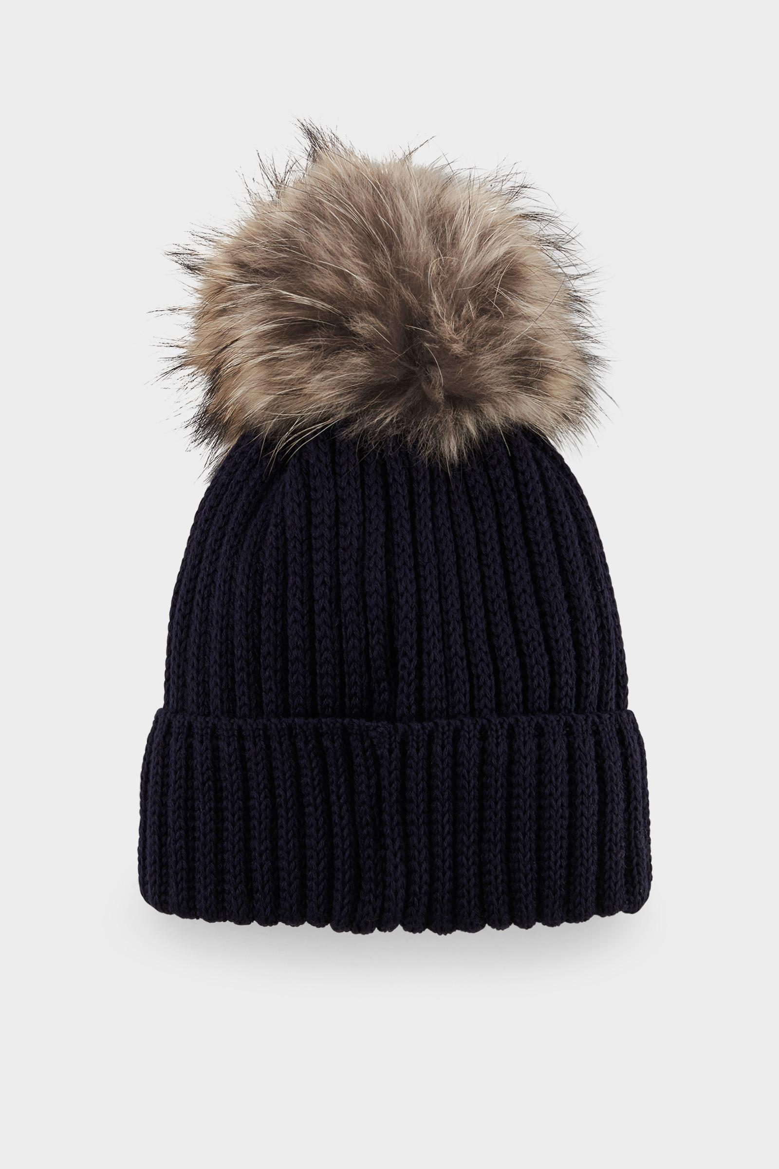 c84592aa68f Bogner - Leonie Knitted Hat In Navy Blue - Lyst. View fullscreen