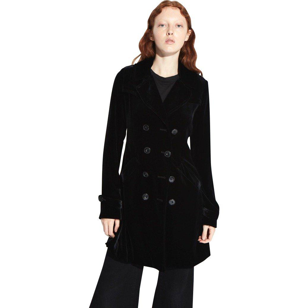 latest collection look out for newest collection Lyst - Nili Lotan Velvet Parker Trench Coat in Black