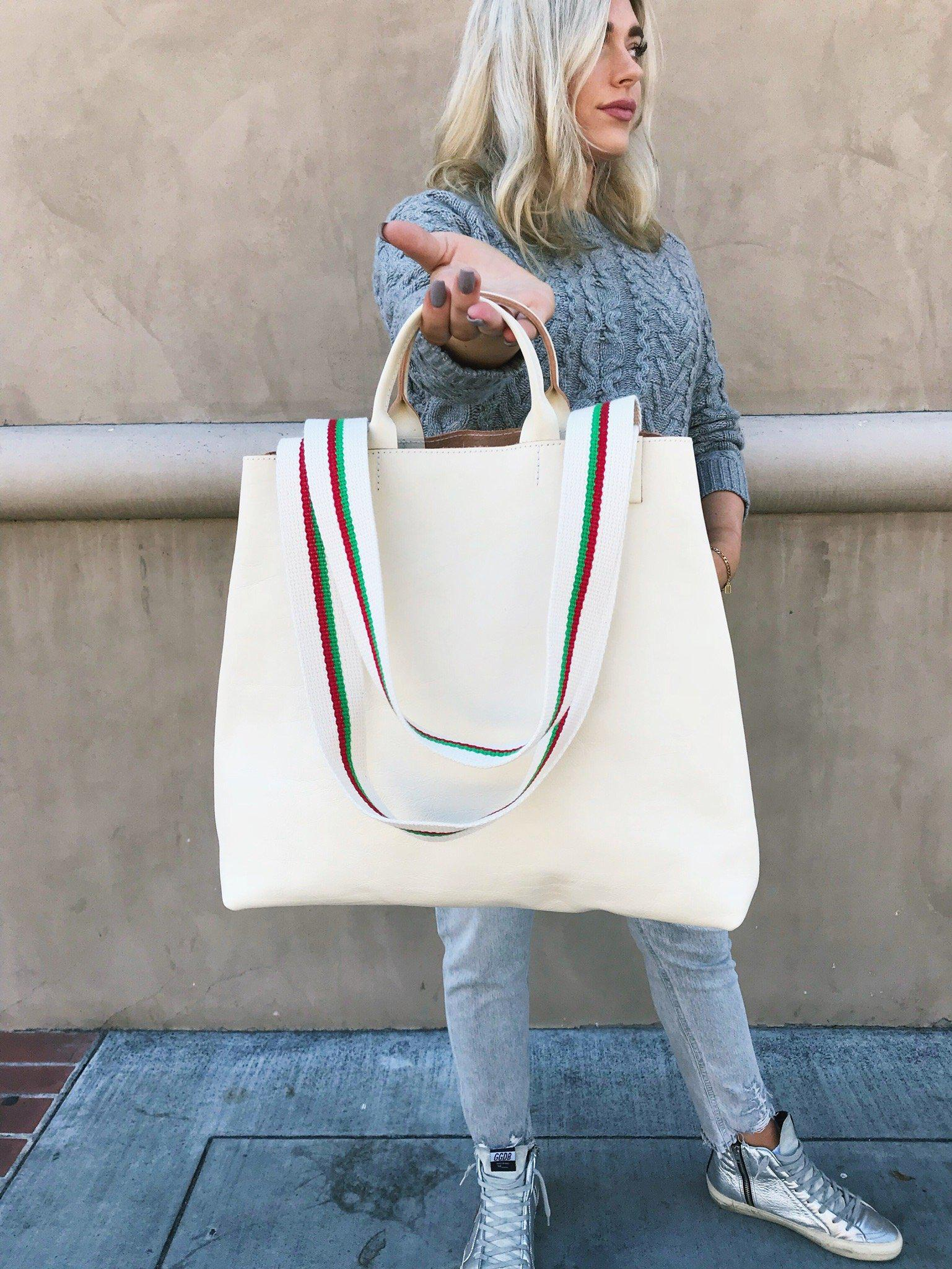 af27479719ff0 Lyst - Clare V. Rustic Le Big Sac in White