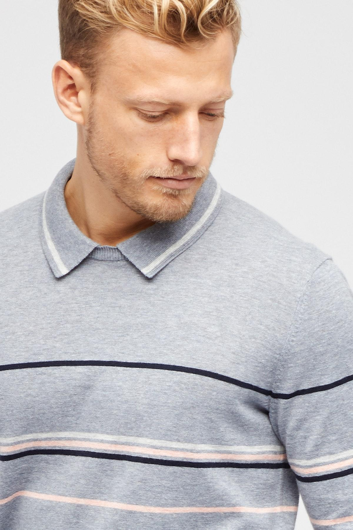 b782abece5b3 Lyst - Bonobos Cotton Linen Collar Crew Neck Sweater in Gray for Men