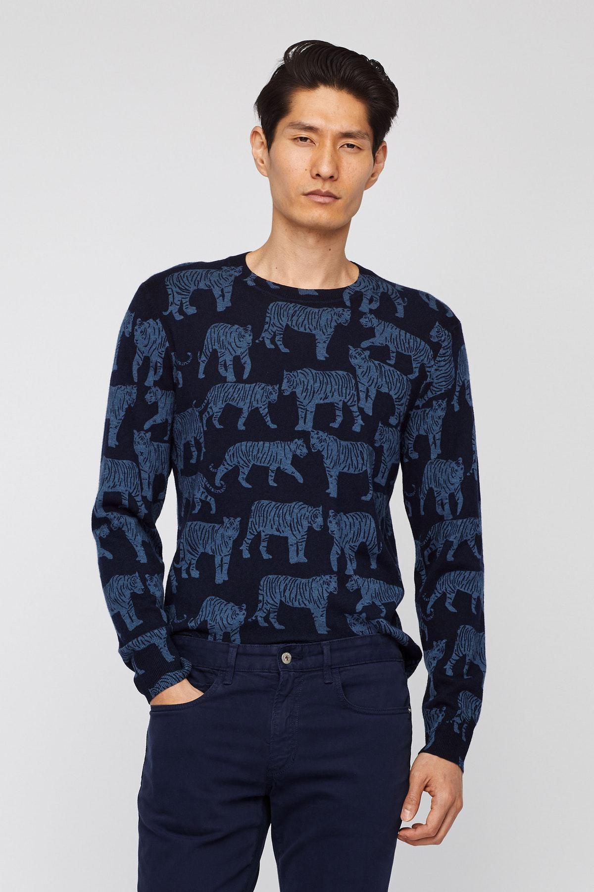 dc0ae5c952ae Lyst - Bonobos Merino Cotton Novelty Sweater in Blue for Men