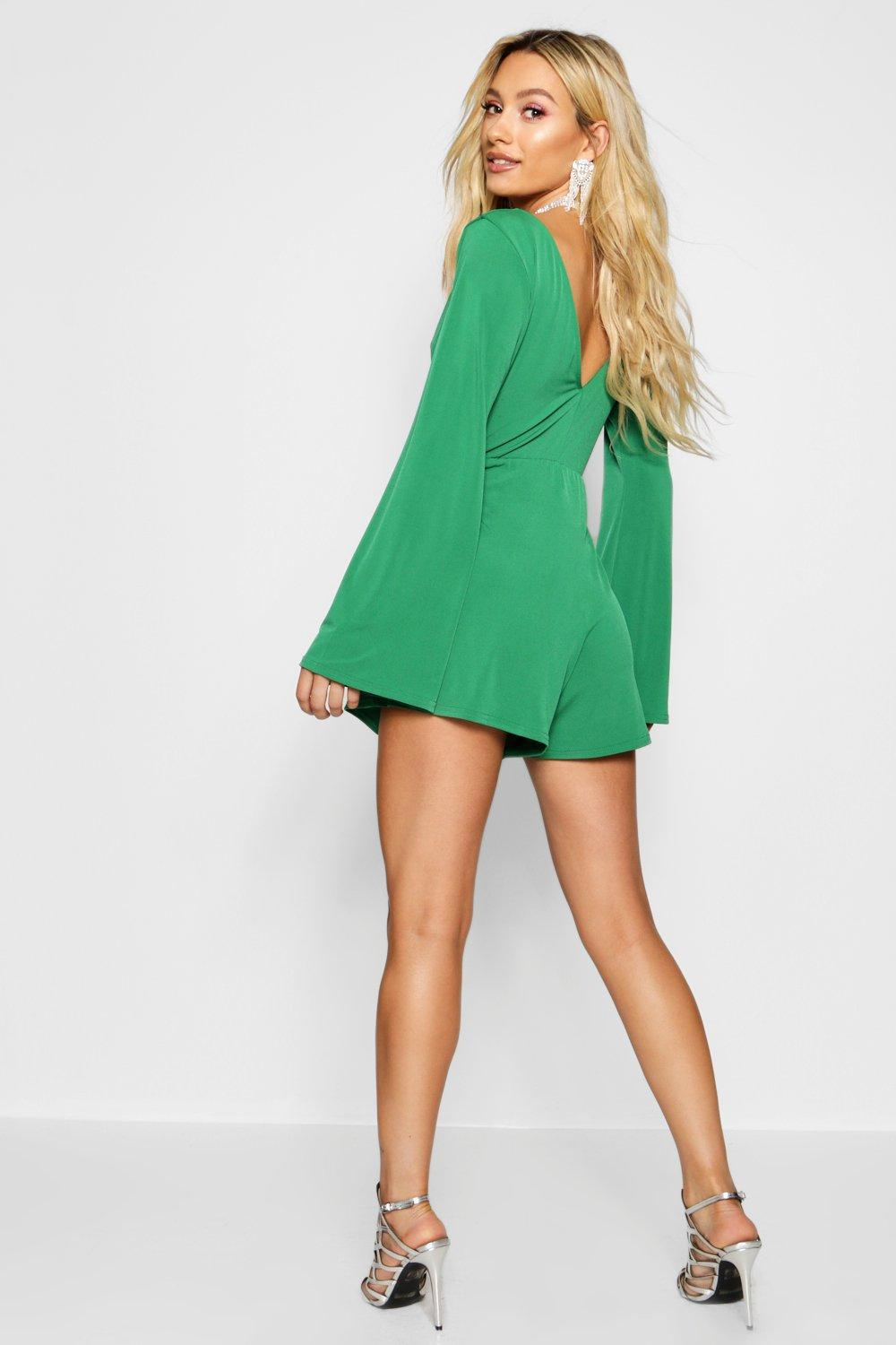ae7d65fb8e Boohoo - Multicolor Cut Front Ring Detail Playsuit - Lyst. View fullscreen