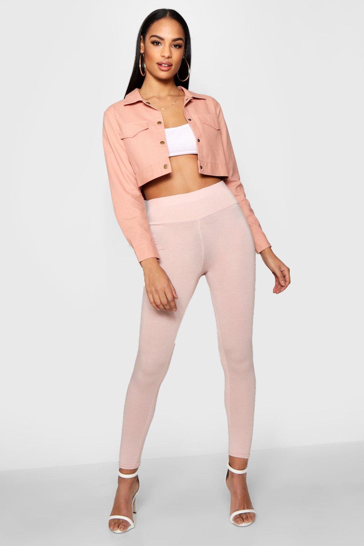 928975bba702d Lyst - Boohoo Basic High Waist Leggings in Pink