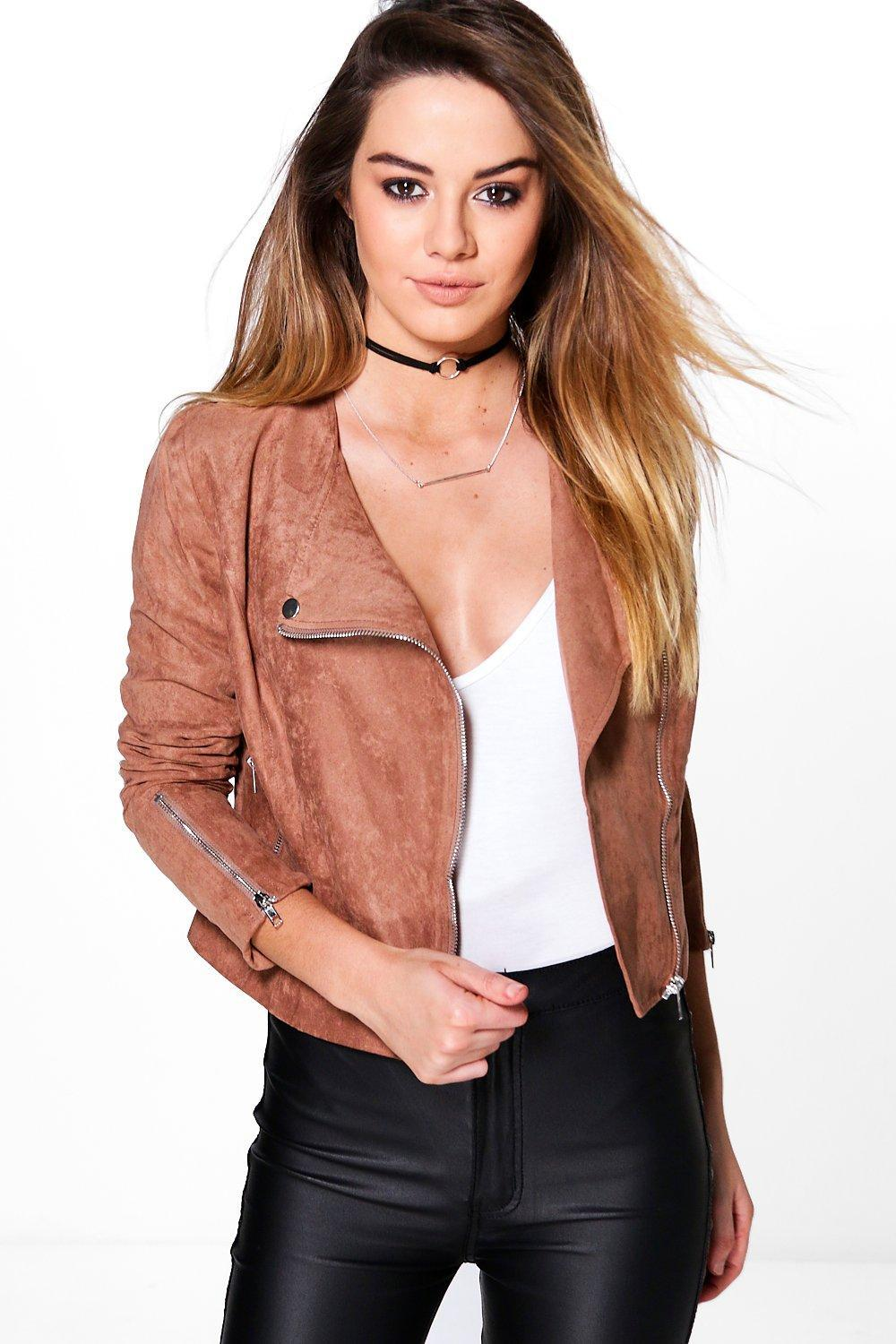 6a8a0805397 Gallery. Previously sold at  Boohoo · Women s Biker Jackets ...