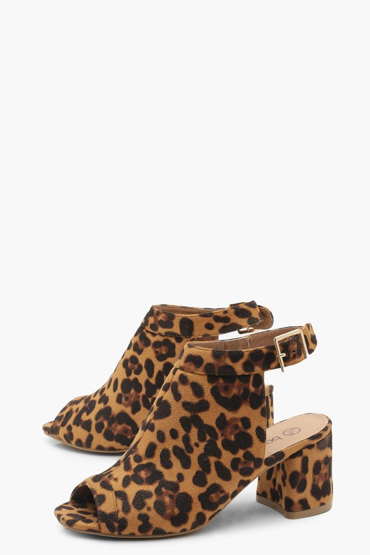 a8588e3531a5 ... Extra Wide Fit Leopard Peeptoe Shoe Boots - Lyst. View fullscreen