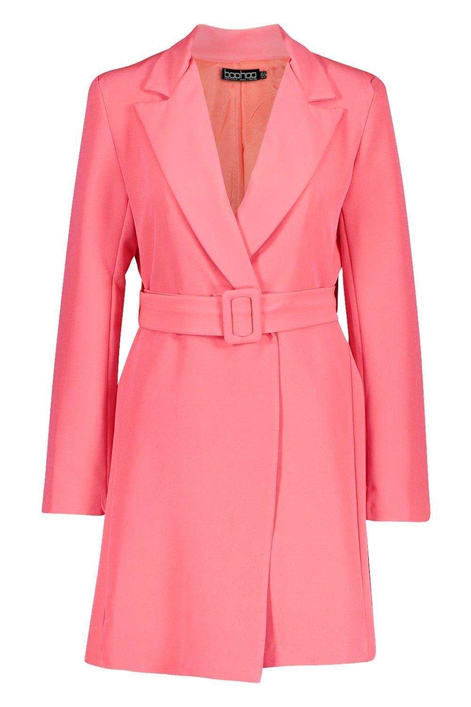 3b4b64177c0d Boohoo - Pink Neon Belted Blazer Dress - Lyst. View fullscreen