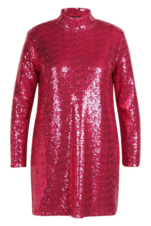3fa2379ab9db ... Gemma Collins High Neck Sequin Shift Dress - Lyst. View fullscreen
