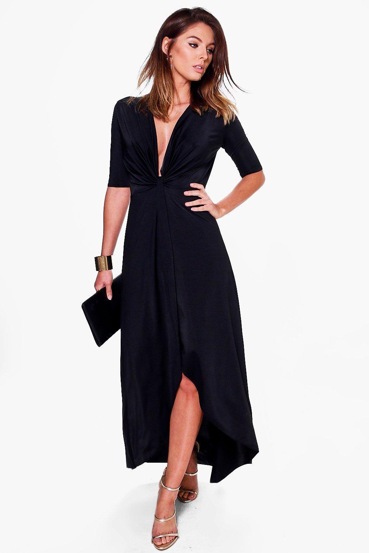 Miss tina twist front maxi dress