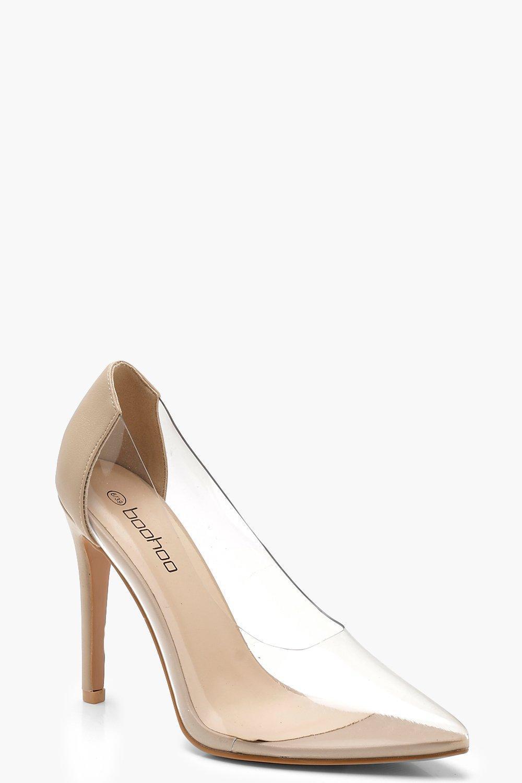 6c7f8dd2731 Boohoo - Natural Clear Court Shoes - Lyst. View fullscreen