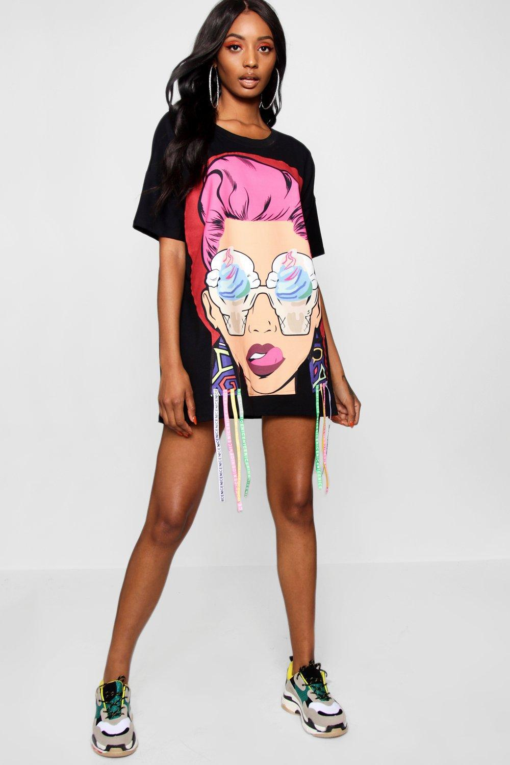 08be0bfb65aaf Gallery. Previously sold at: Boohoo · Women's T Shirt Dresses