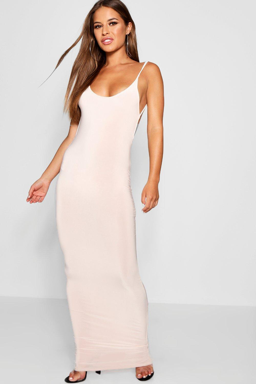 f0100f2cd8 Lyst - Boohoo Petite Sadie Skinny Open Back Maxi Dress