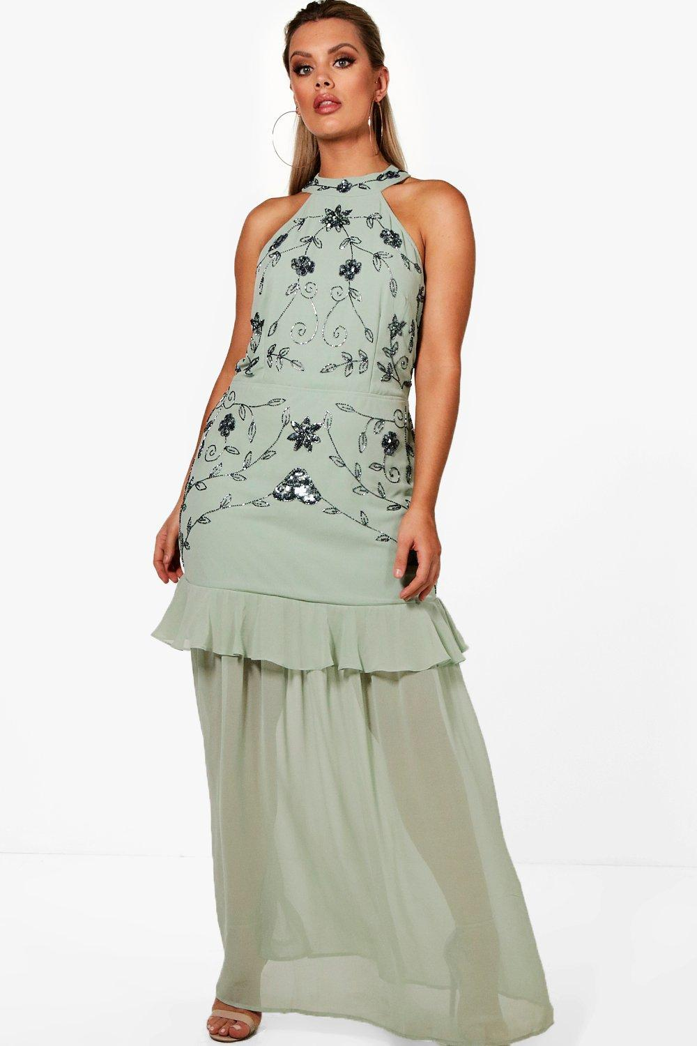 6458bf19e238 Gallery. Previously sold at: Boohoo · Women's Halterneck Dresses ...