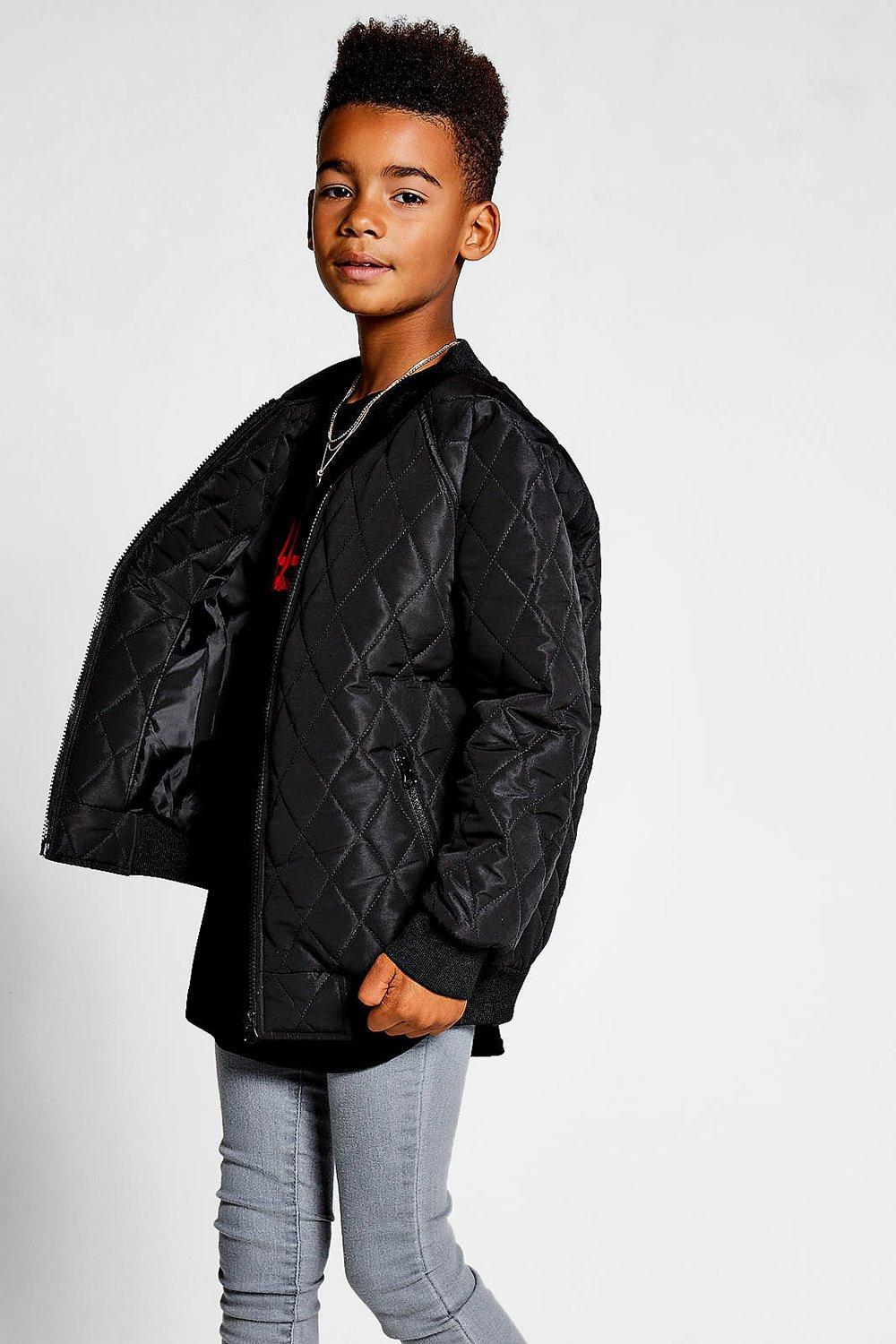 03f99acc3 Lyst - Boohoo Boys Padded Quilted Bomber Jacket in Black for Men