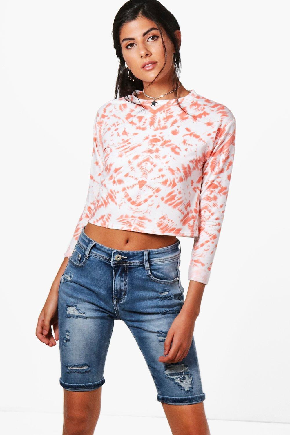 Boohoo Ripped Distressed Bermuda Shorts Cheap Price Outlet Sale Inexpensive Popular Sale Online 3PJ2Rui