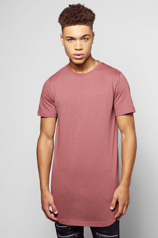 7485dd85d87 Lyst - Boohoo Longline Scoop Hem T Shirt in Gray for Men