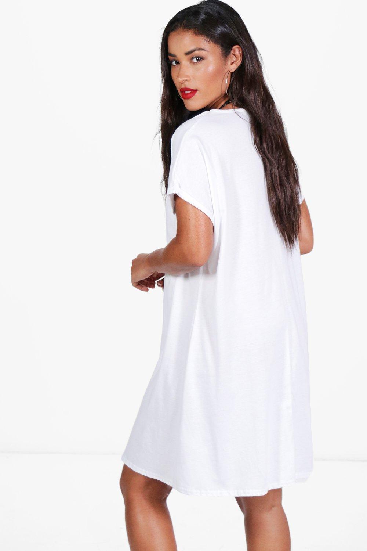 54294c4fe3e ... Maternity Oversized Roll Up T-shirt Dress - Lyst. View fullscreen